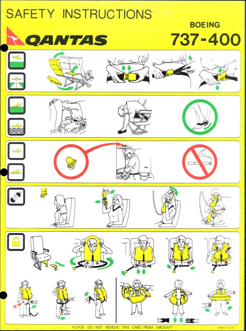 Airline Safety Card Designs Design Thinking